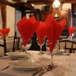 Öreg Malom Étterem terített asztal...